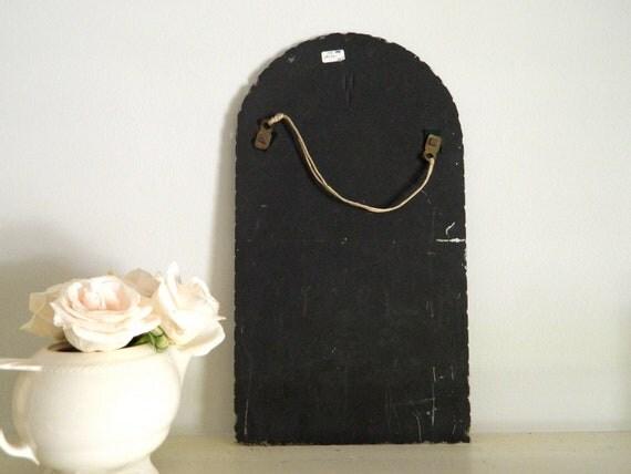 Reserved Vintage Etched Beveled Mirror Frameless Scalloped