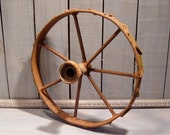Rustic Rusty Wheel, Vintage Farm Wheel, Home or Garden Decor, Rustic Primitive Decor, Tractor Wheel
