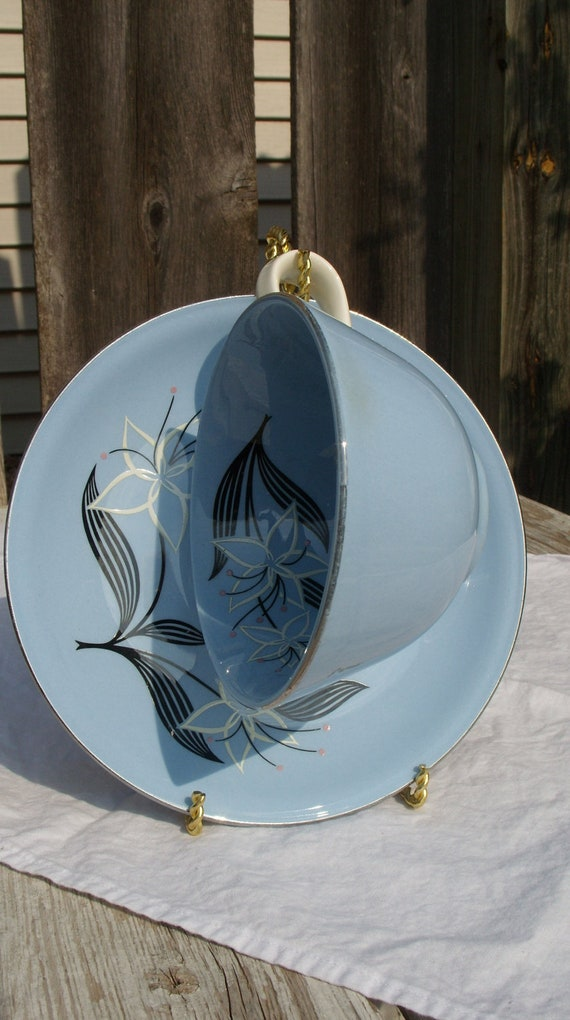Homer Laughlin Skytone Marcia or Narcissus Tea Cup and Saucer