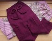 Reserved listing- Handknit Wool Longies