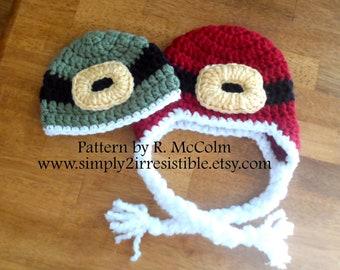 Santa Earflap Hat - Crochet Pattern Number 42 - Newborn to Adult - Crochet Hat PATTERN