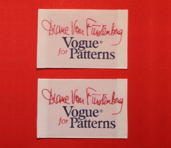 2x Diane von Furstenberg for Vogue Patterns SEW IN LABELS