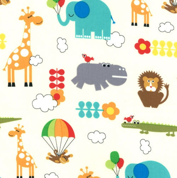 NEW - Bungle Jungle Collection - Children's Critters - Natural - by Tim and Beck for Moda Fabrics - Children's Fabric