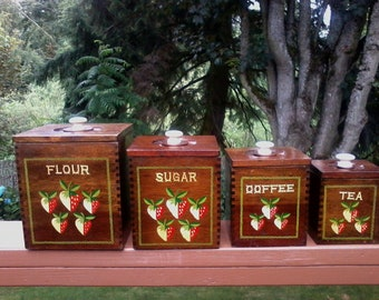 Strawberry Wood Canisters