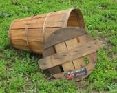 Vintage Pearson Hiley Peach Bushel Basket for photography prop, home decor, flower arrangements