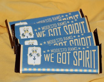 Printable Customizable Cheerleading Candy Bar Wrapper
