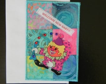 New Baby Quilted Postcard
