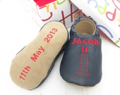 First Birthday Gift - personalized keepsake baby shoes - personalized baby gift - leather baby shoes - First birthday outfit