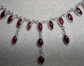 Gem Garnets like no other Hand Wrought Necklace 19 Beautiful inches