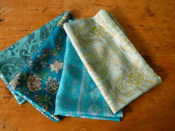 Silk Fat quarters 4 colors combo