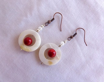 Primal Shell and Coral Charm Earrings.
