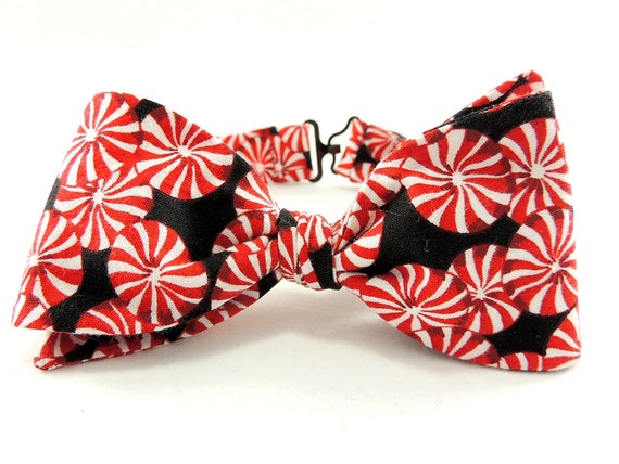 Boys Freestyle Bow Tie Holiday Photo Prop Peppermint Candy