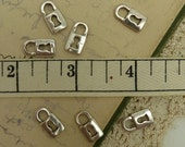 8 antique silver tone tibetain style lock charms size 14 mm by 7 mm
