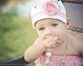 Girls Headband, Shabby Chic Fabric Crown, Photo Prop, Princess Birthday Hat