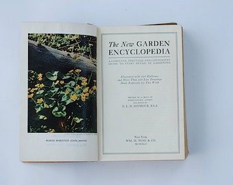 Antique Garden Encyclopedia, Home Decor, Nature, Christmas Gift For Gardner, For Mom, ANtique Reference Book, Naturalist, Stocking Stuffer