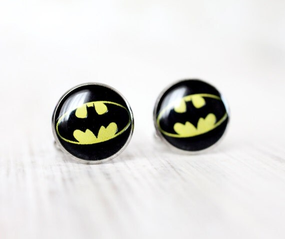 Mens Cufflinks - Batman Cufflinks - Sci-Fi Jewelry - Superhero Cufflinks