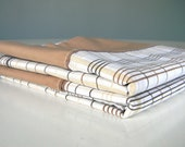 Vintage Pillow Cases Covers Set Brown Plaid Set FREE SHIPPING
