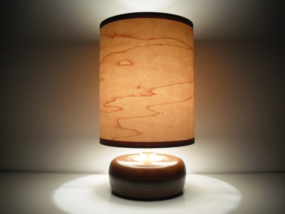 The Kiki Lamp With Maple Wood Veneer Shade By Regollc On Etsy