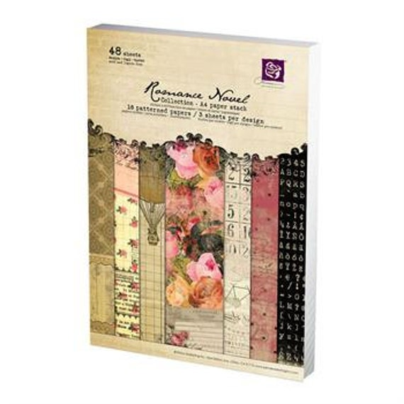 in STOCK Prima ROMANCE Novel A4 paper pad - cardstock collection