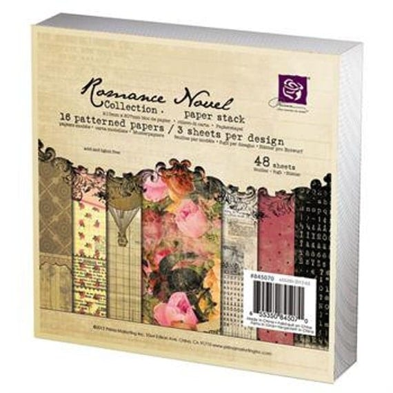 in STOCK Prima ROMANCE Novel 6 x 6 paper pad - cardstock collection - just released cha 2012