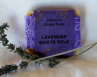 Hand Crafted Natural Lavender Goat's Milk Soap