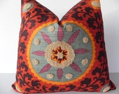 Suzani 3Park 20X20 Tribal Print Pillow Cover Designer Home Decor Fabric-Throw Pillow-Accent Pillow-Designer Pillow-Toss Pillow