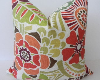 Floral Decorative BOTH SIDES 20X20 Pillow Cover Home Decor Fabric Throw Pillow