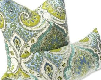 "Kravet ""Latika"" Ikat Decorative Pillow Cover 20X20-BOTH SIDES-Home Decor Fabric-Throw Pillow-Accent Pillow-Living Room Pillow-Throw Pillow"