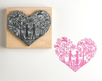 You & Me Wedding Rubber Stamp