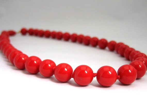 Vintage Cherry Red Beads