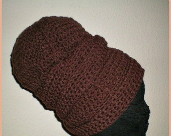 The Urban Turban Crocheted Headwrap in Brown