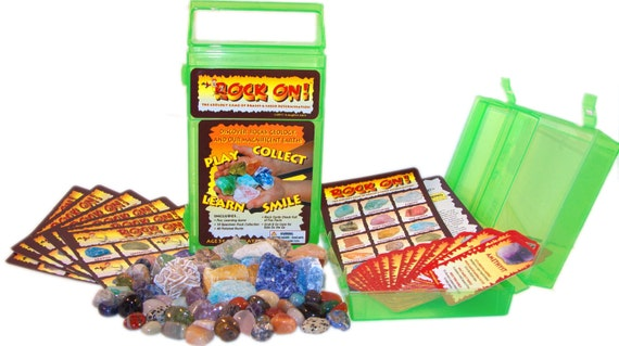 ROCK ON Geology Game & Rock Collection  --  Free Shipping