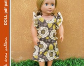 Anya Doll Dress - PDF Pattern - Doll Size 18 inch