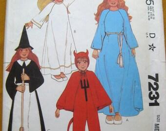 McCalls 7231 Costume Sizes 6 8 (uncut) Angel Princess Witch Devil