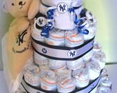 New York Yankees 4 Tier Diaper Cake