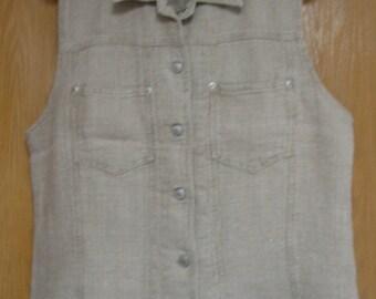natural linen 'Gap' vest - never worn - size large