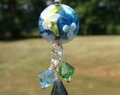 Monet Watercolors Glass & Crystal Beaded Charm Scrapbook Wedding Favors Party