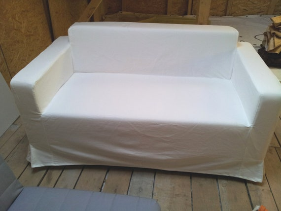 Custom Made Cover For Klobo Sofa From Ikea White Color