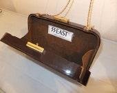 Vintage Purse Brown Plastic Case 33 East
