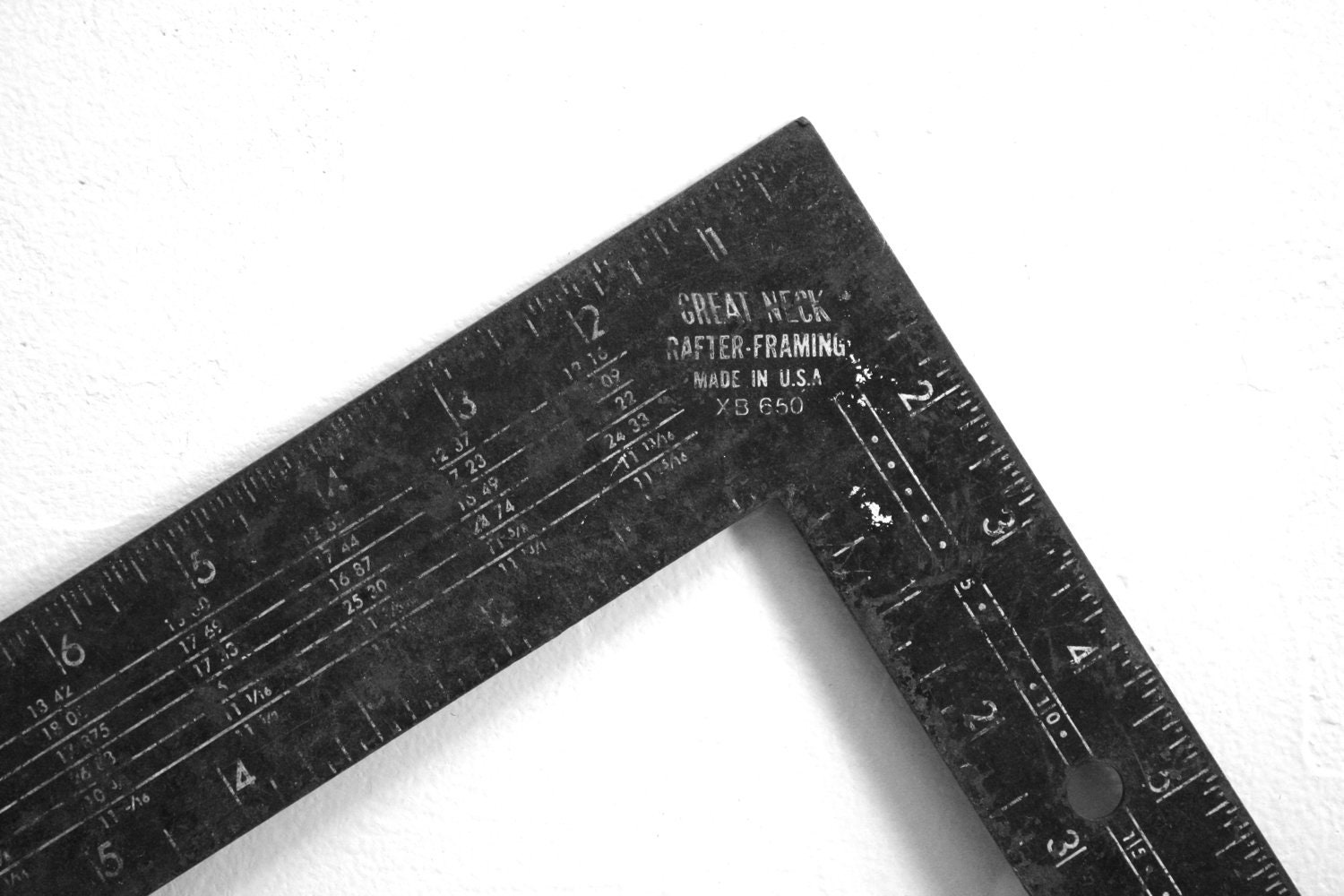 Reserved For Zachry Lever Vintage Metal Right Angle Ruler Made