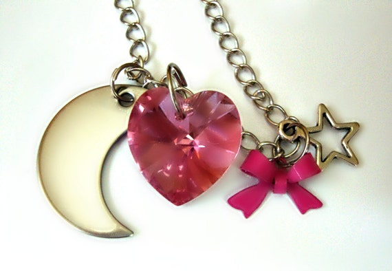 Pink Sugar Heart Attack Necklace