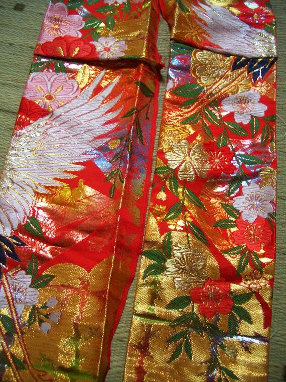 Vintage KIMONO Fabric scrap, 12
