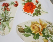 Vintage 1950s Collection of Decals Roses Flowers Large Huge  D004
