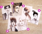 Post cards, anniversary cards, fashion illustration cards, watercolour cards