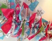CHRISTMAS: Pink Snowman Collar - Small