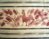 Fabric with Roosters