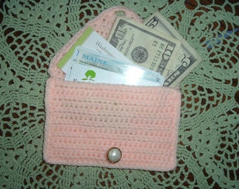 Envelope style wallet for your credit cards, business cards  and cash.