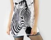 ZEBRA Stripes Animal Fashion Shirt Animal Tank Top Animal Tunic Top Shirt Women Animal Sleeveless Singlet Vest Women White Shirt Size S M