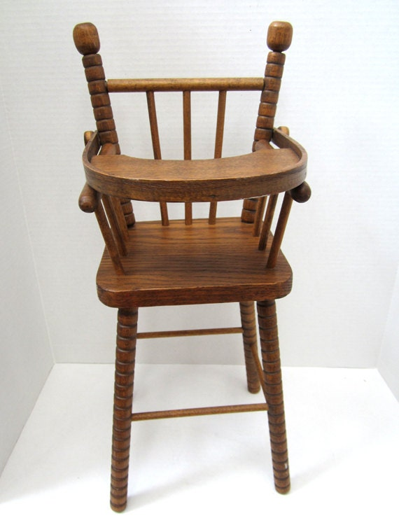 Vintage Child S Wooden Play High Chair