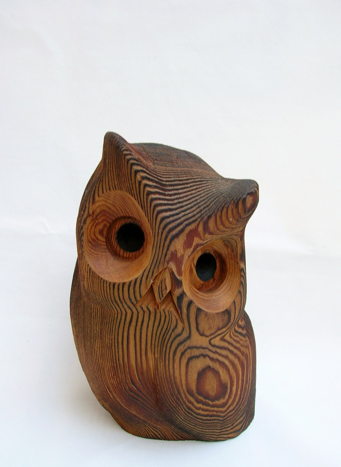 Wood owl hand carved by kadian crafts ltd canada wooden